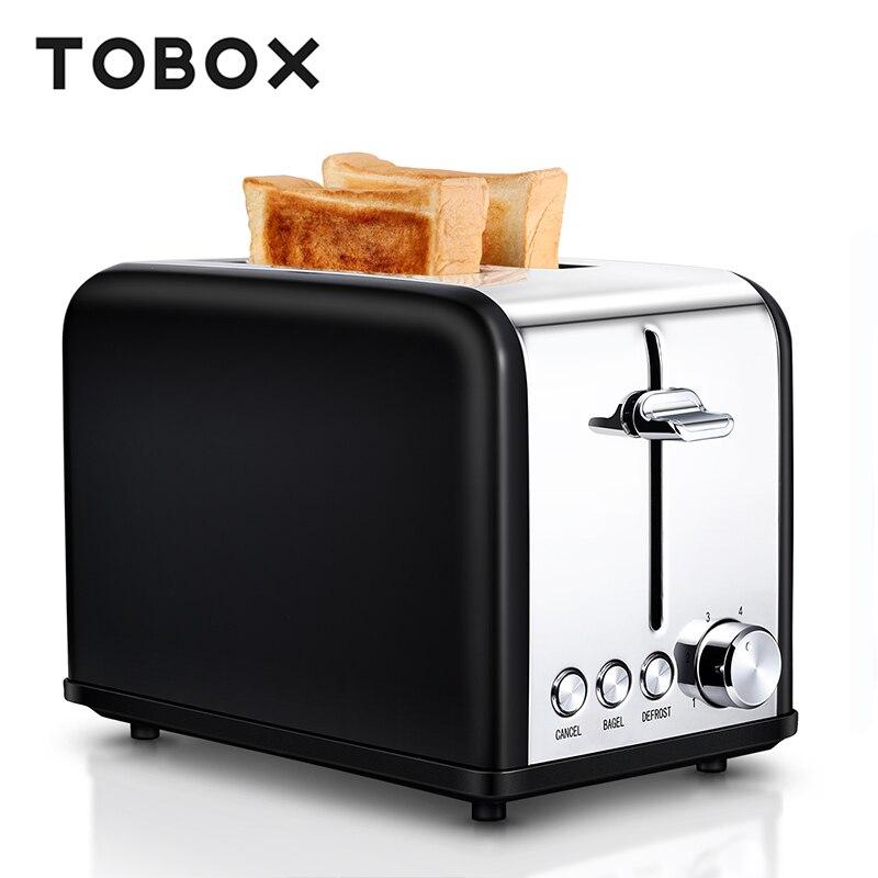 Tobox 2 Slice Toaster Sandwich Maker Bread Toaster Oven
