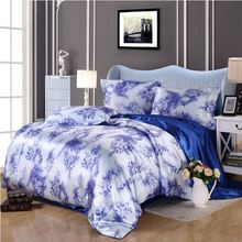 Home Textile Silk Bedding Set Luxury Satin Duvet Cover Set 4/6pcs Chinese Style Bedclothes Bed Linen Flat Sheet Queen King Size