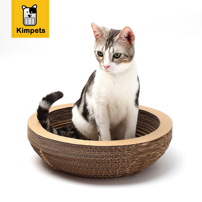 DOBOLA Fashion Cat Toys Cats Scratching Pad Bowl Shaped with Catnip Cat Scratch Board Corrugated Paper Cat Supplies Pet Product