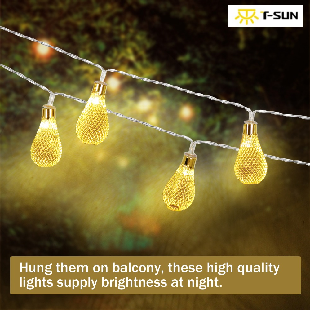 T-SUN Holiday String Lights Led Outdoor Christmas Fairy Lights Pretty Decorative Fairy Lights For Outdoor Garden Or Indoor Party
