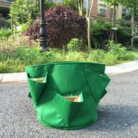 Nieuwe tuin levert groene stof Aardbei Planten Bag Tuin Tuinieren Planten zakken 6 mini Zakken gratis verzending