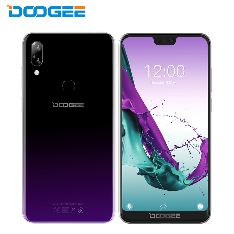 DOOGEE N10 Handy 5,84 zoll FHD + 19:9 <font><b>Display</b></font> 3 GB + 32 GB SC9863A Octa Core Android 8.1 Dual 16.0MP 3360 mAh Smartphone image