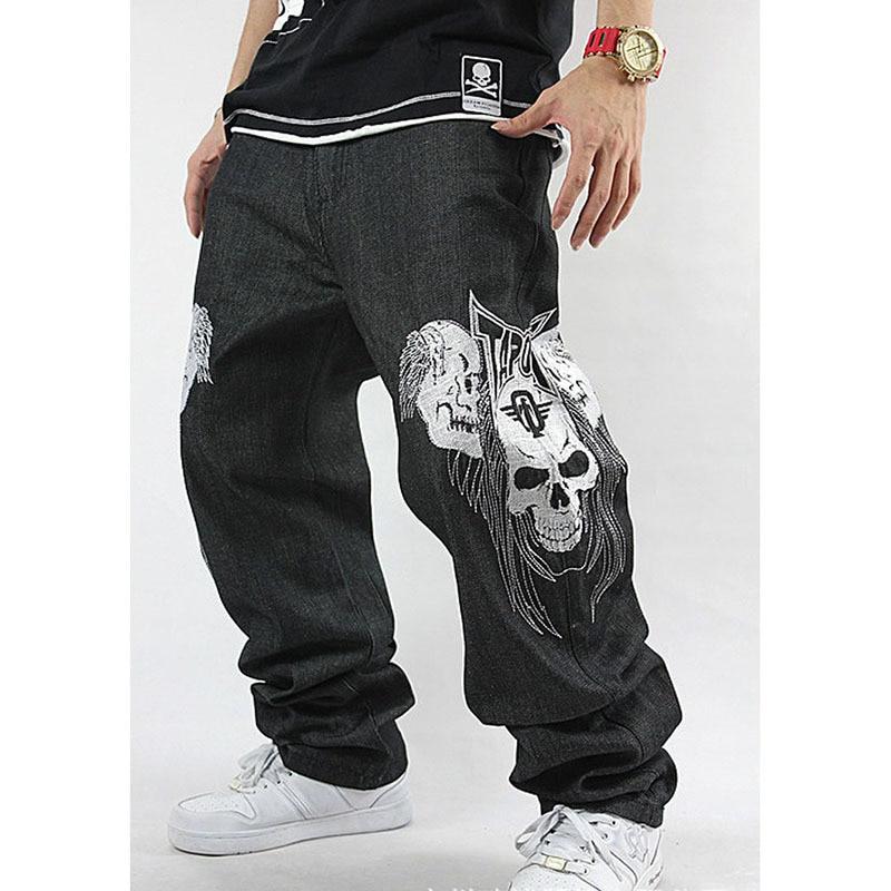 Lose Jeans-Schädel-Stickerei-Hip-Hop-Rap der Männer - Herrenbekleidung - Foto 3