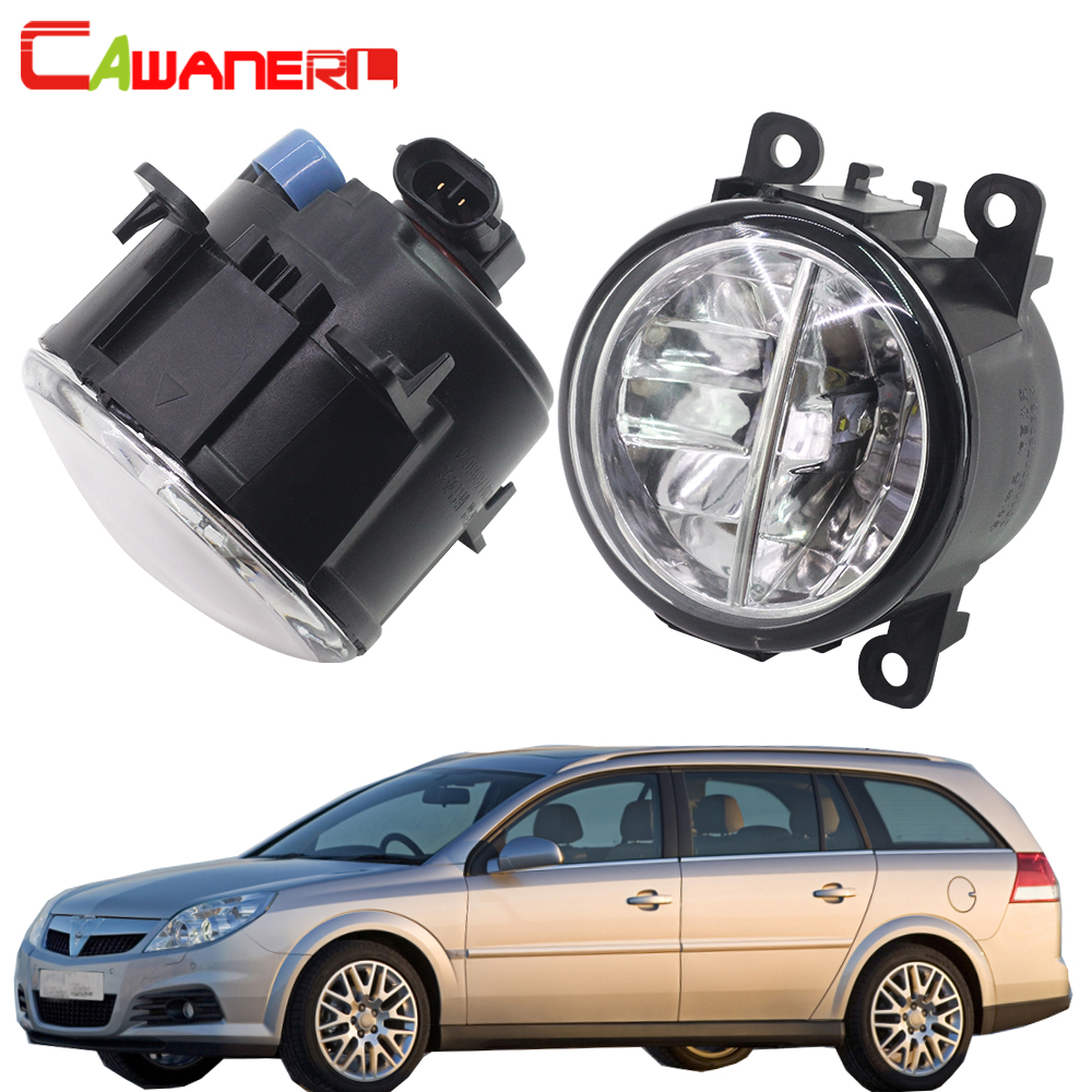 Cawanerl 2 Pieces Car Styling LED Fog Light Bulb 4000LM/Set 6000K White Daytime Running Lamp DRL 12V For Opel Vectra C 2002-2008 2x 80w h7 led bulb 16 smd osram car fog light dc 12v 24v 360 degree 760lm white fog light 6000k drl fog lamp light sourcing