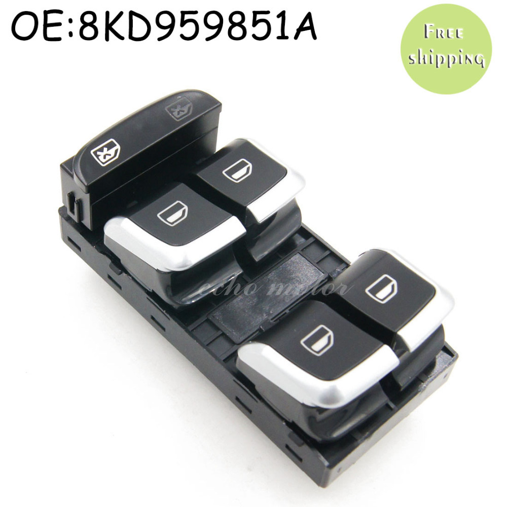 New 8KD 959 851A 8KD959851A Chrome Driver Side Electric Master Window Control Button Switches For AUDI A4 S4 Q5 B8 Allroad
