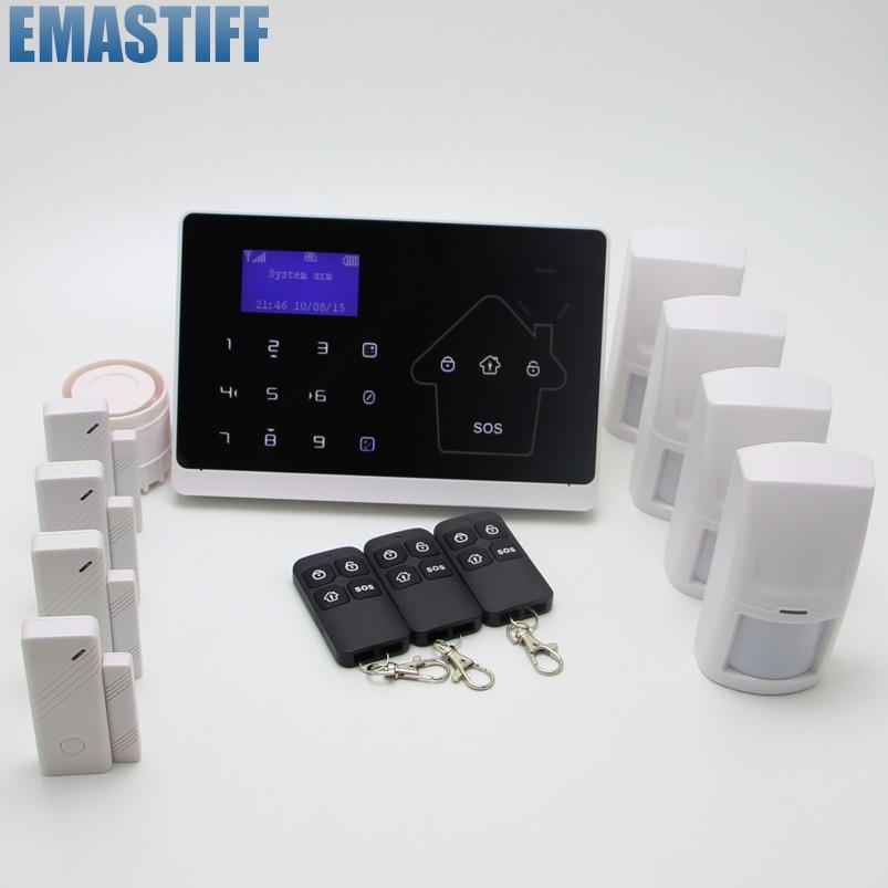 10 Wireless 2 Wired Zones GSM PSTN Anti-thief Security Alarm System 2 4g wired