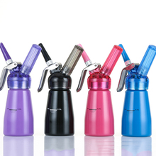 Free Shipping 1/2 pt (0.25L) Colorful Whipped Cream Dispenser, Professional Aluminum Cream Whipper with Translucent Head(00281)