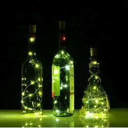 2M 20LEDs Mini LED Holiday String Lights Bottle Stopper Glass Craft For Indoor Outdoor Wedding  Christmas Led lights decoration