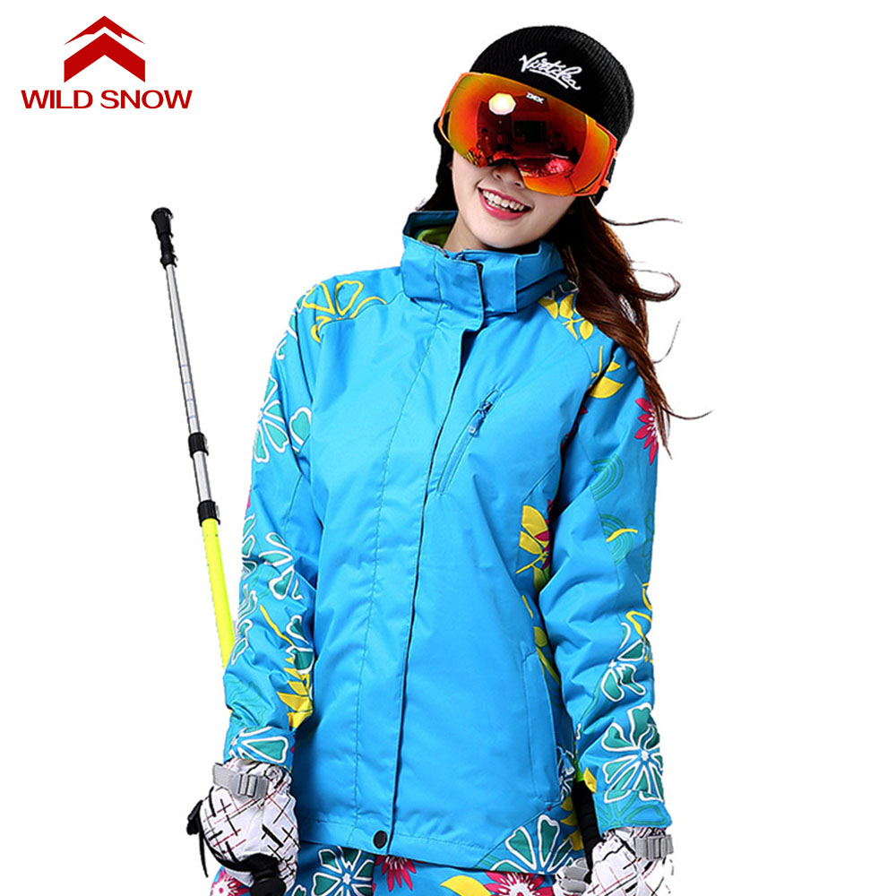 2017 WildSnow Ski Jacket Women Sports Skiing 3in1 Jackets Snowboard Female Thicken Snow Waterproof Windproof Hiking Coats PYJ517