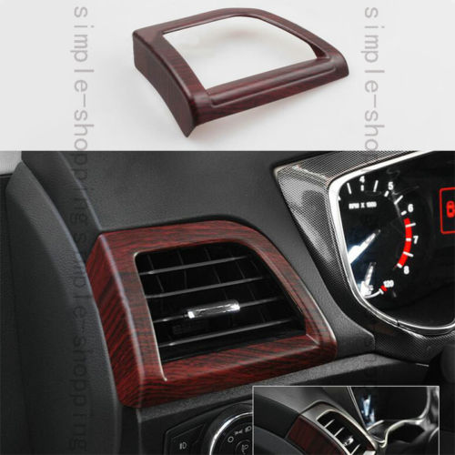 Wood Color Left Air Vent Outlet Frame Cover Trim For Ford Fusion Mondeo 2013 15