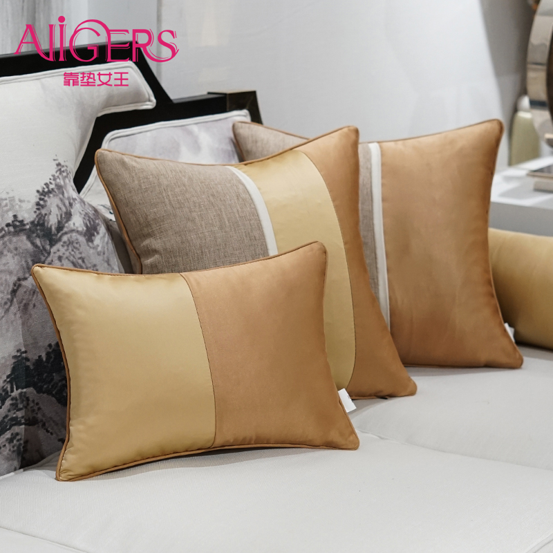 Avigers Luxury Patchwork Cotton Linen Jacquard Decorative Pillow Cases Modern Minimalist fashion Cushion Covers for Sofa Rooms