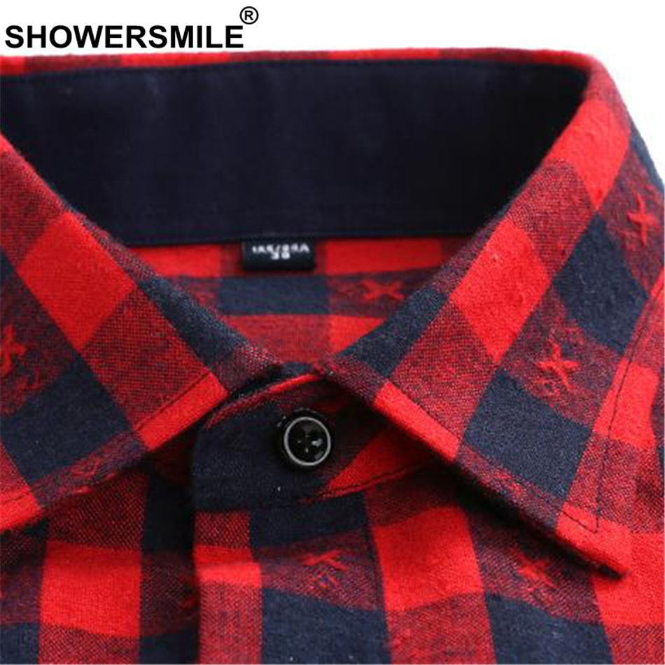 Zwart Wit Geruit Overhemd.Showersmile Paars Shirt Mannen Lange Mouw Plaid Flanel Shirt Man