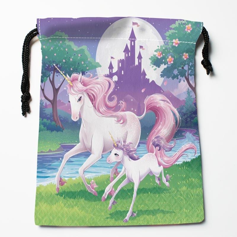 New Custom Unicorn Horses Bags Custom drawstring Bags Printed gift bags 27x35cm Compression Type Bags