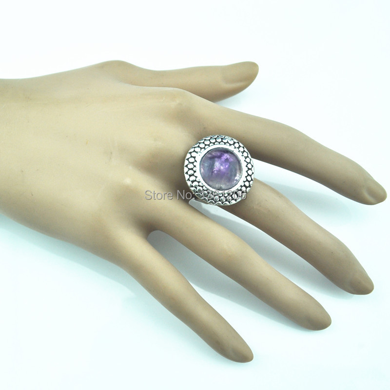 R2 -----Piece Stone Finger Ring Factory Price Jewlery Vintage Look Tibet Alloy free shipping wholesale