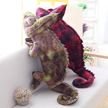 70cm/100cm Big Simulation chameleon Plush Animals Toys Stuffed Plush chameleon dragon Pillow Toy Birthday Gifts Kids Toys