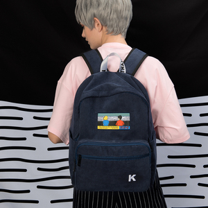 Image 5 - Creative ומעשי ורוד וכחול כהה קורדרוי רקמת תרמילי עבור בתי ספר ונוסע סצנה סדרה (כיף KIK)