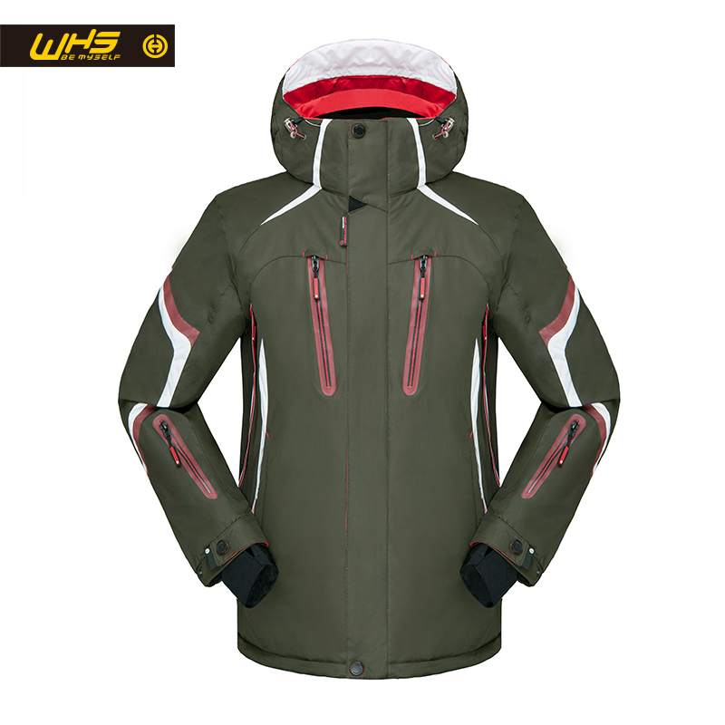 WHS 2018 New Ski Jacket men windproof warm coat male waterproof snowboard jacket Outdoor sport clothing winter green color men and women winter ski snowboarding climbing hiking trekking windproof waterproof warm hooded jacket coat outwear s m l xl