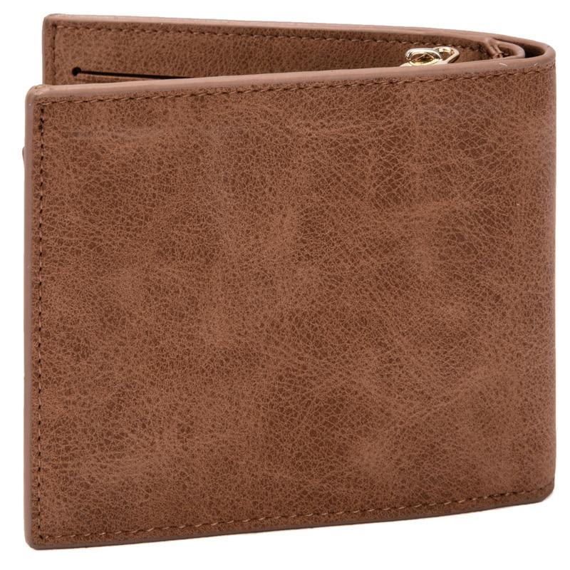 Vintage Leather Hasp Small Wallet Zipper Wallets Coin Pocket Purse Card Holder Men Wallets Money Cartera Hombre Bag Male Clutch 2