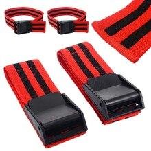1 пара красных окклюзионных полос фитнес тренажерный зал BFR полосы кровотока ограничение окклюзия BFR жгут обучение Biceps полосы