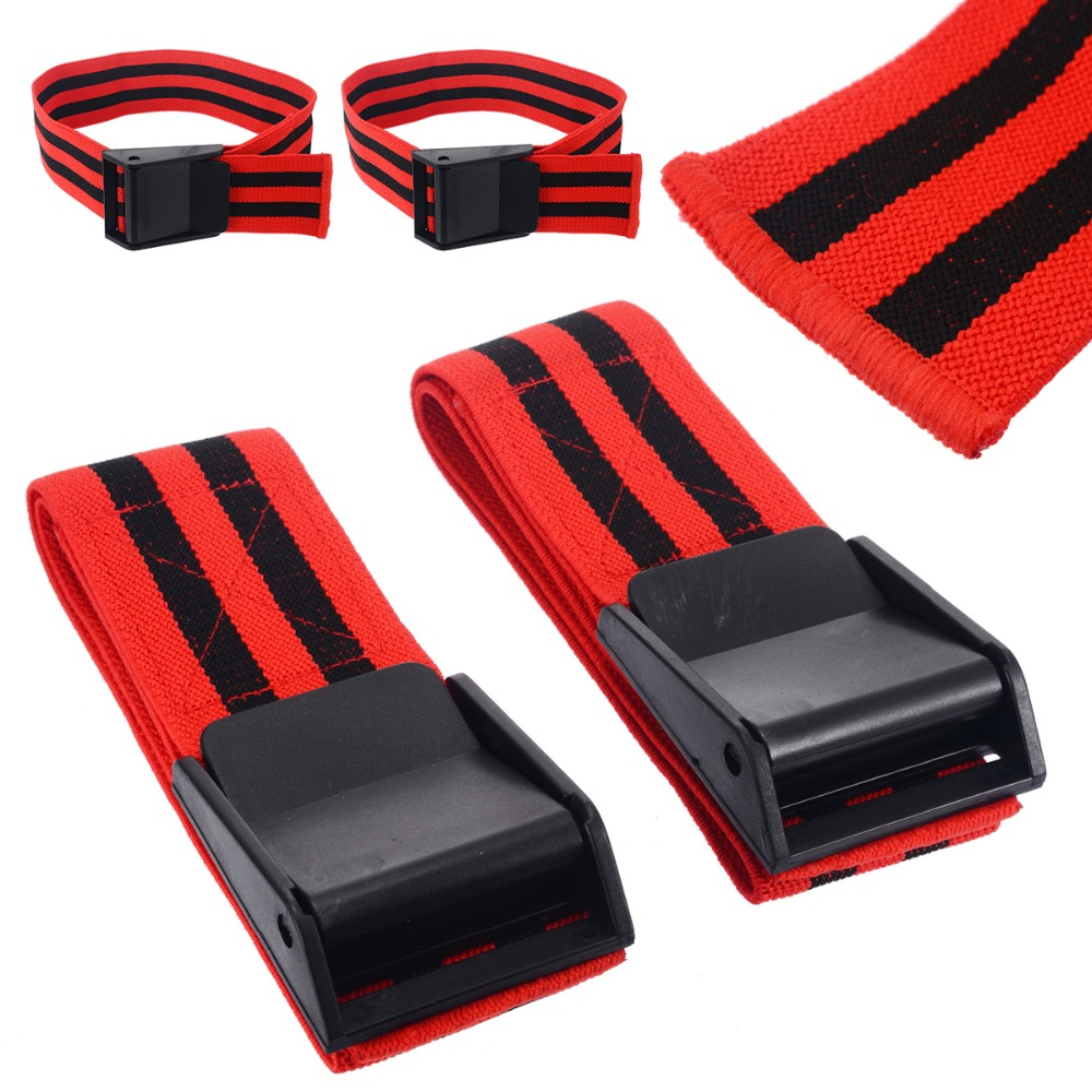 1 par de bandas de oclusión roja Fitness gimnasio BFR bandas de restricción de flujo sanguíneo oclusión BFR torniquete entrenamiento Biceps bandas