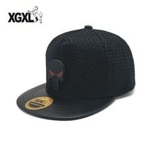 XGXL Men Women Black Skull Baseball Cap SEALs Punisher Tactical Hat Amercian Punisher Team Hat Adjusted Snapback Wholesale