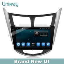 Uniway  android 6.0 car dvd player for hyundai verna accent solaries 2010 2011 2012 2013 2014 2015 radio gps navigation headunit
