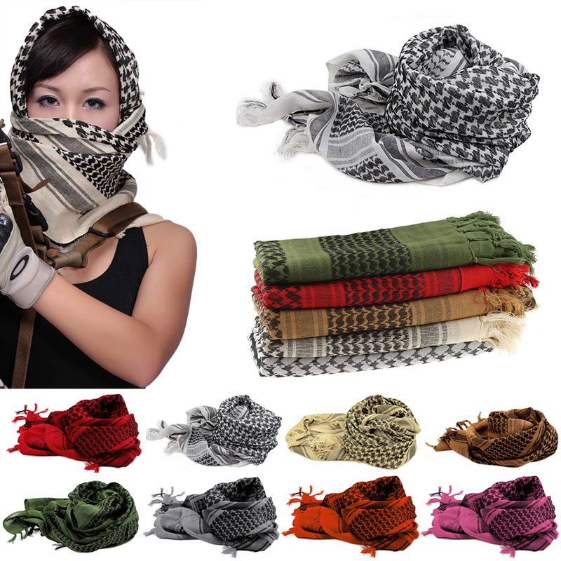 Winter Women Men Windproof Warmer Military Scarf muslim hijab shemagh  Scarves Tactical Desert Arab KeffIyeh Shawl-in Women s Scarves from Apparel  ... d39a6f6e8
