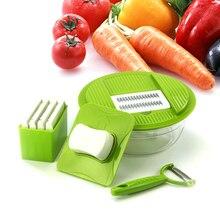 5 BLADES Vegetable Slicer bowl Stainless Steel Cutting Vegetable Grater Creative Kitchen Gadget Carrot Potato cutter