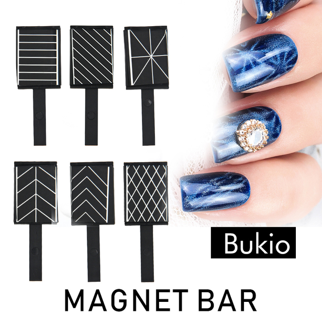 Bukio Double Magnet For Gel Nail Polish Effect Magnetic Pen Tool