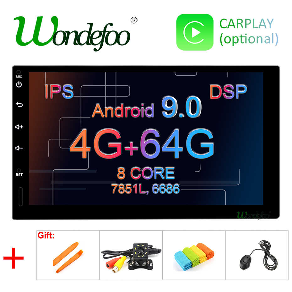 "7"" IPS screen 4G 64G Android 9.0 car multimedia GPS 2 DIN universal radio touch screen stereo navigation no DVD PLAYER"