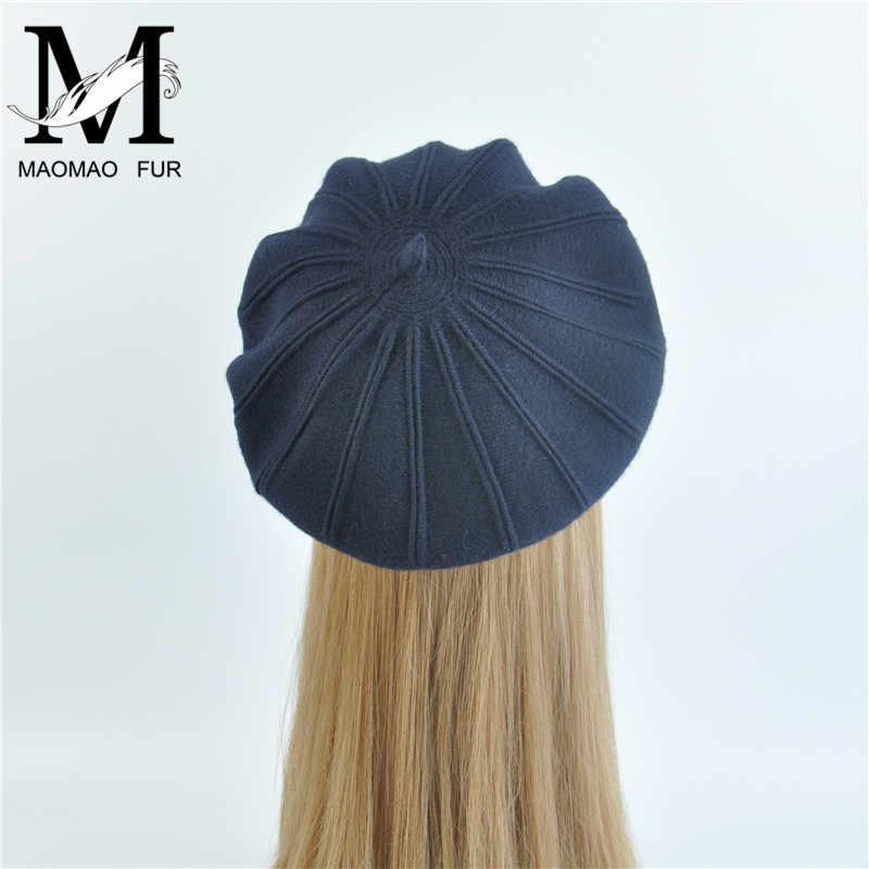 Casquillo del pintor de la boina de lana caliente chica alta calidad mujeres  boina sombrero Bonnet 1d31e09d9a0