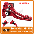 CNC Pivot CRF Motorcross Racing Clutch and Brake Folding Lever Fit to CRF250R 2007-2014 CRF450R 2007-2014 Free Shipping!
