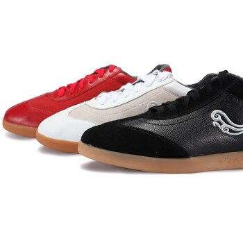 Good Quality Tai Chi Shoe,Leather  Practice Morning Exercises  Tai ji Shoe ,Ox Tendon Bottom kung fu shoe