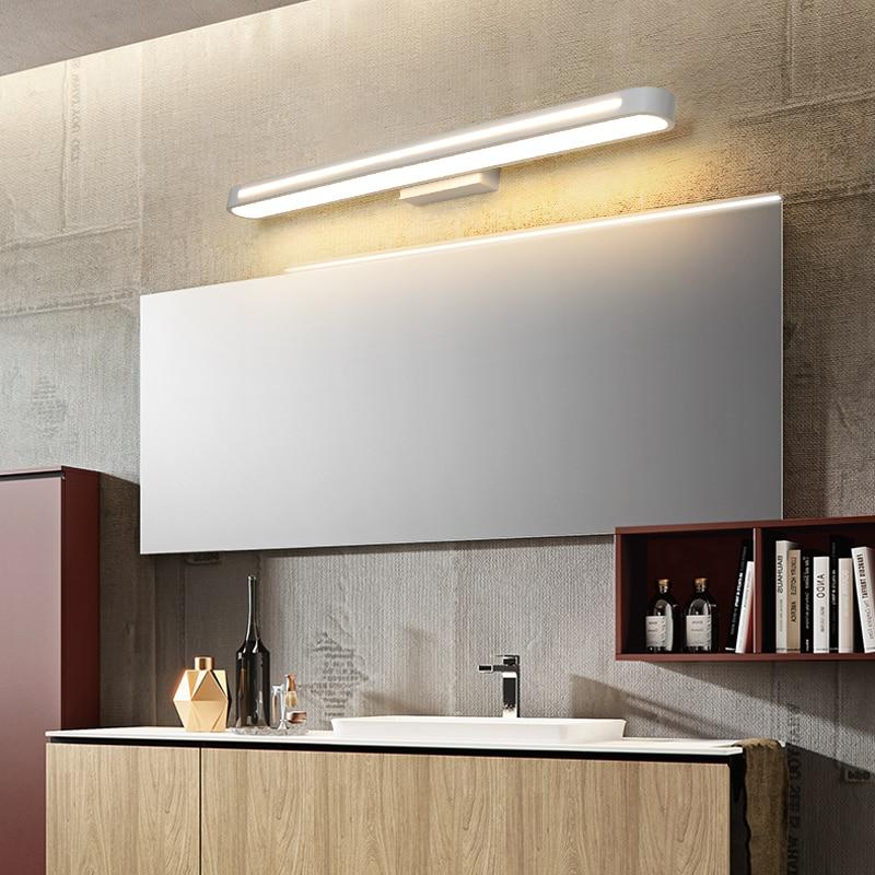 Image 5 - Modern led Wall lamps Bathroom Light LED Mirror Light Waterproof 400 700Length AC85 265V Acrylic Wall Lamp Bathroom Lighting-in LED Indoor Wall Lamps from Lights & Lighting