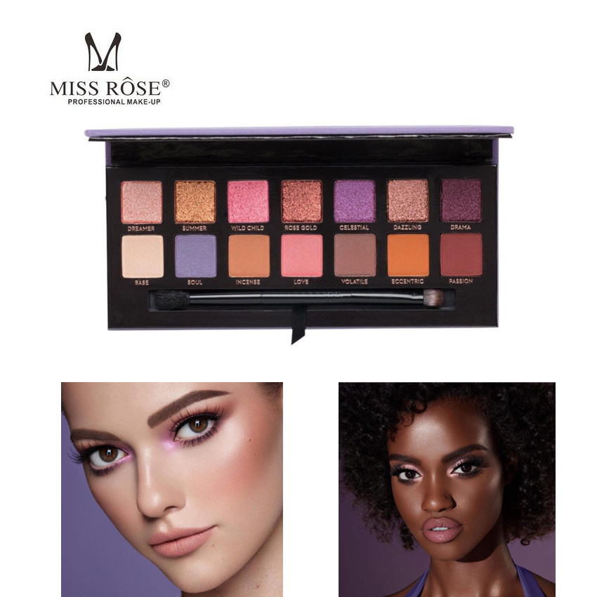 Miss Eye Makeup Soft Prism Gleam Glow Palette Face Highlighter Bronzer Sweet 14 Color Eyeshadow Palette Glow Kit платье sweet miss sweet miss sw014ewausu4