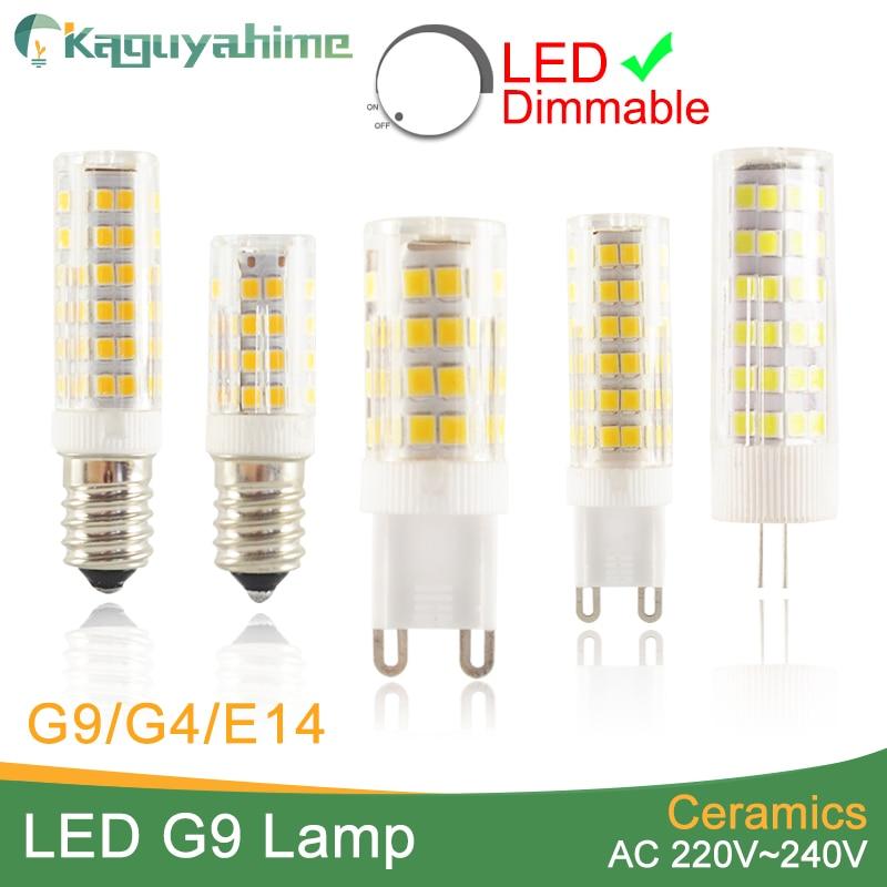 Kaguyahime G9 Led Lamp 220V Ceramic LED Bulb E14 5W 7W 9W 12W SMD 2835 G4 LED dimmable lamps 360 Degree Angle Led Spotlight Lamp mr16 led didoe lamps 5w 7w 9w gu10 led spotlight bulb 110v 220v 60 70 80 leds smd 2835 smart ic ampoule led dimmable bombillas