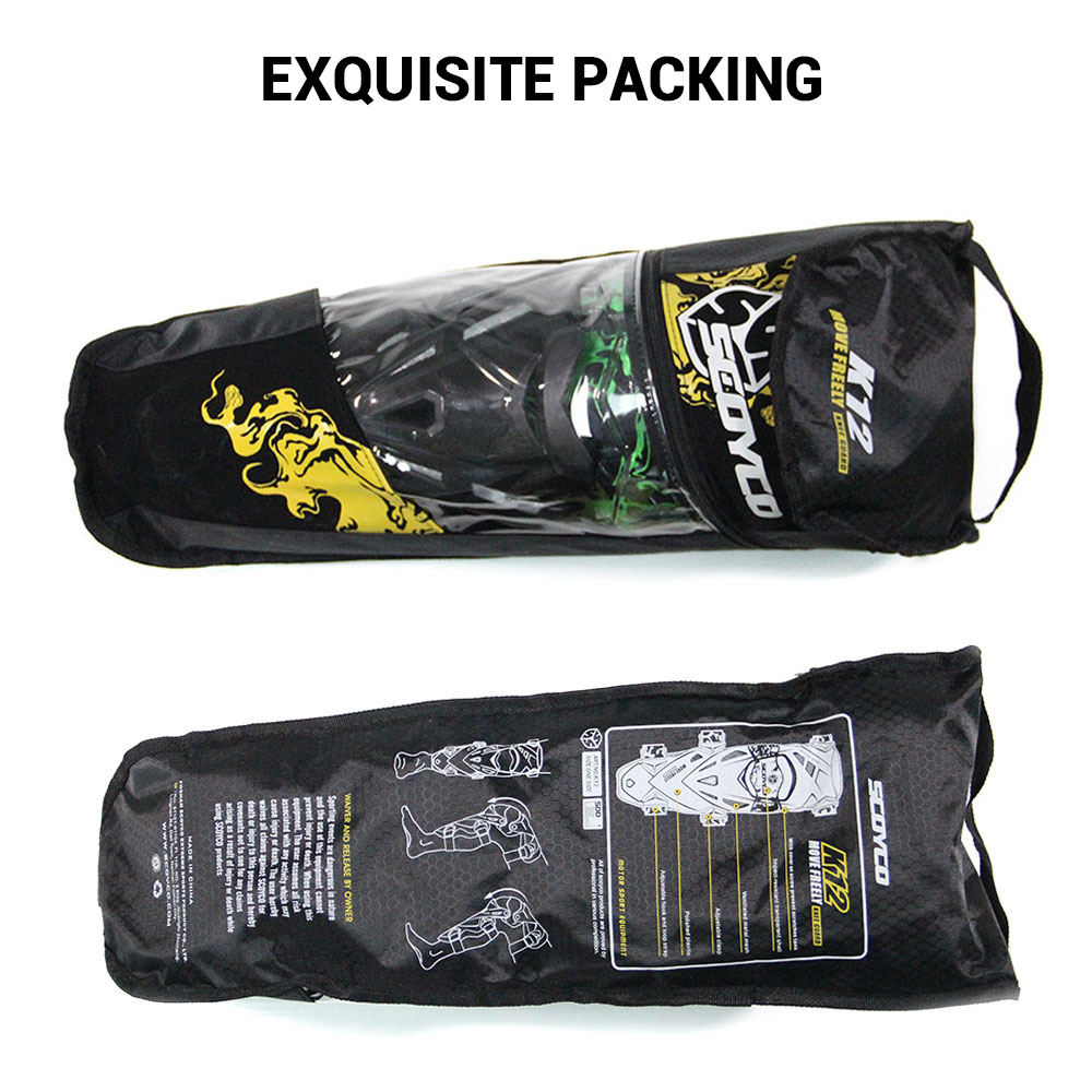 Scoyco Moto genouillère hommes équipement de protection genou Gurad genou protecteur équipement de Rodiller Motocross Joelheira Moto # - 6