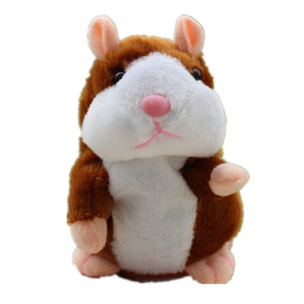 15cm Lovely Talking Hamster Speak Talk Sound Record Repeat Stuffed Plush Animal Kawaii Hamster Pet Dog Cats Toys Christmas Gifts