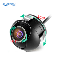 Waterproof Mini Wide Angle 360 HD CCD Normal Image Car Rear View Camera With Mirror Image