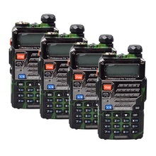 4PCS camouflage UV-5RE BAOFENG New Dual Band  Handheld Two Way Radio 136-174 / 400-520MHz 128 channel walkie talkie