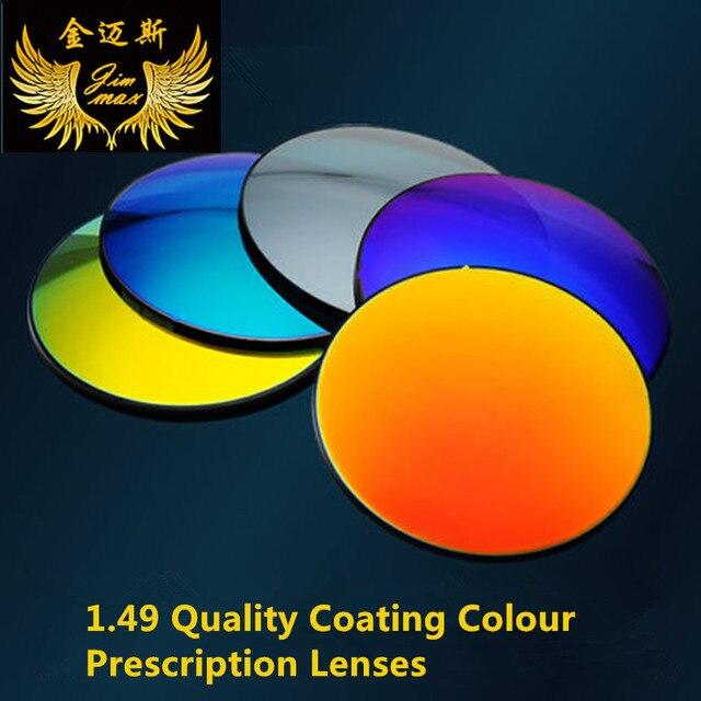 Поляризованный покрытие цвет качество близорукость 1.49 индекс линзы близорукость анти блики почти зрения раскраски рецепт зеркало объектив