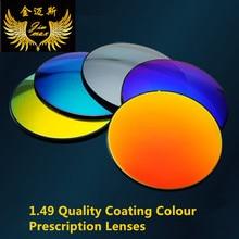 bc771a85aa 1.49 polarized coating mirror prescription lenses quality myopia anti glare  myopia coating colour uv protection near sight lens