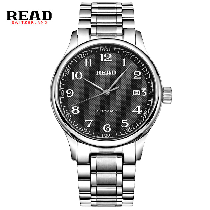 READ Hot 2017 Luxury Brand Sport Men Automatic Watches Mechanical Military full Steel Stainless Band relojes 8003 sapphire 2017 hot selling relojes band white
