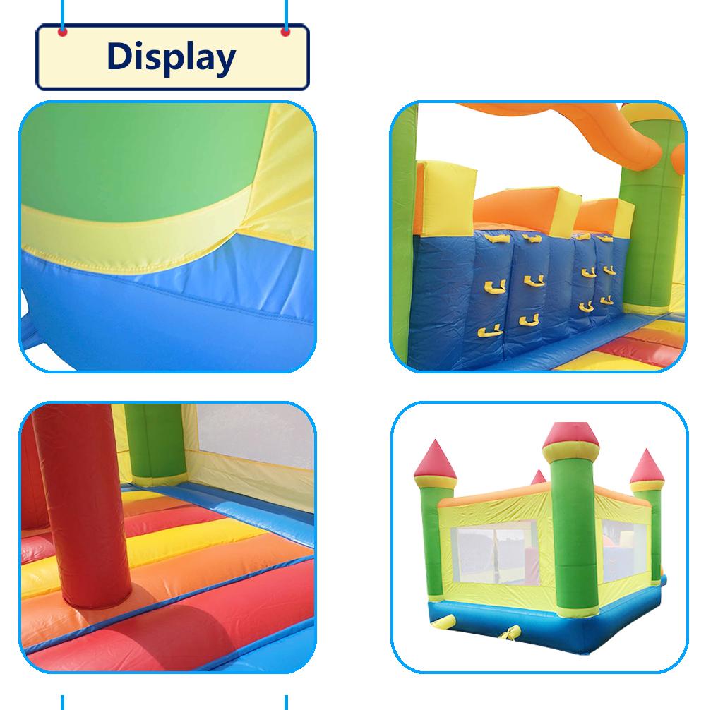 HTB1jrUJSXXXXXbaXpXXq6xXFXXXv - YARD Giant Dual Slide Inflatable Jump Castle Bouncy House with Blower