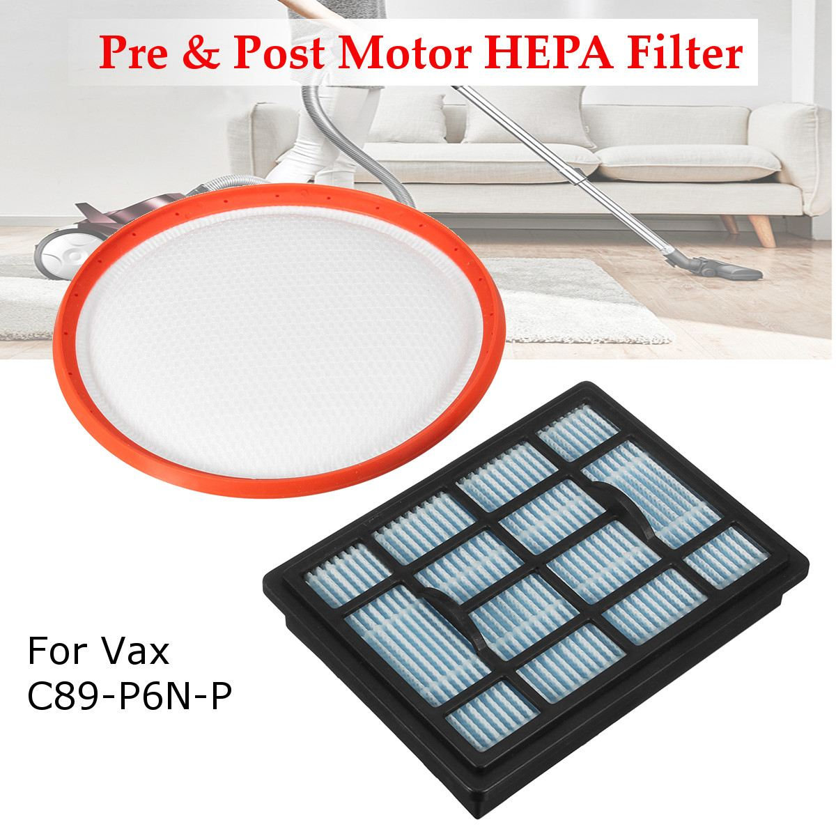 где купить KROAK Pre & Post Motor HEPA Filter For Vax Power 6 C89-P6N-P Vacuum Cleaner Hoover Filter Pad по лучшей цене