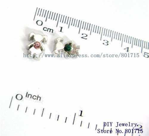Como presente atacado 10 pçs mix cor menina flutuante medalhão de vidro charme apto para flutuante viver memória medalhão fc432