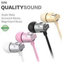 100 Original Tons Best Noise Cancelling In Ear Stereo Headphone With MIC Microphone Headphone For Mobile