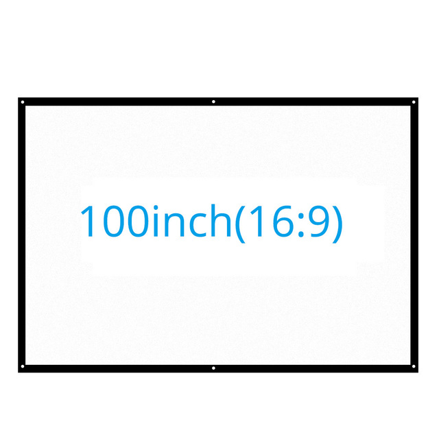 Portable 100 Inches 16 9 Projector Screen Optional Size Projection Mattte White Home Theater Bar For Wall
