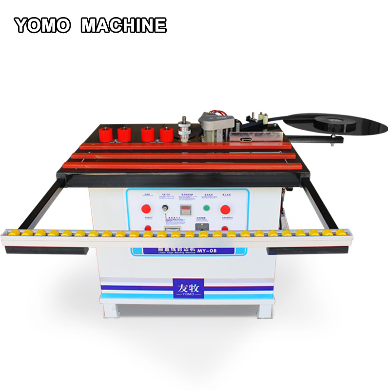 MY-08 wood edge banding machine double sided glue woodworking edge bander straight& curve