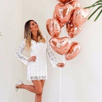 Rose Gold Silver Aluminium Foil Balloons Birthday Wedding Engagement Party Decor Globo Kids Ball Supplies